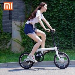 100% Original Xiaomi QiCYCLE-EF1 eléctrica plegable bicicleta Bluetooth inteligente bicicleta eléctrica 16 pulgadas Mini bicicleta APP