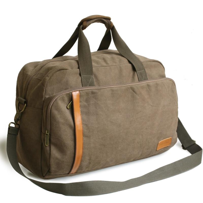 ФОТО 2014 New Large Capacity Portable Canvas Travel Duffle Bag Trendy Handbag Men's Coffee One Shoulder Bag