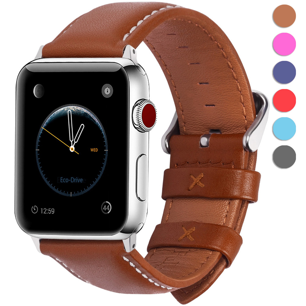 Leather Watch Bracelet For Apple Watch Band 42mm 38mm iWatch Watch Accessories For Apple Watch Strap Watchband Series 1 2 3 eastar genuine leather bracelet for apple watch band 42mm 38mm iwatch watch accessories for apple watch strap watchband