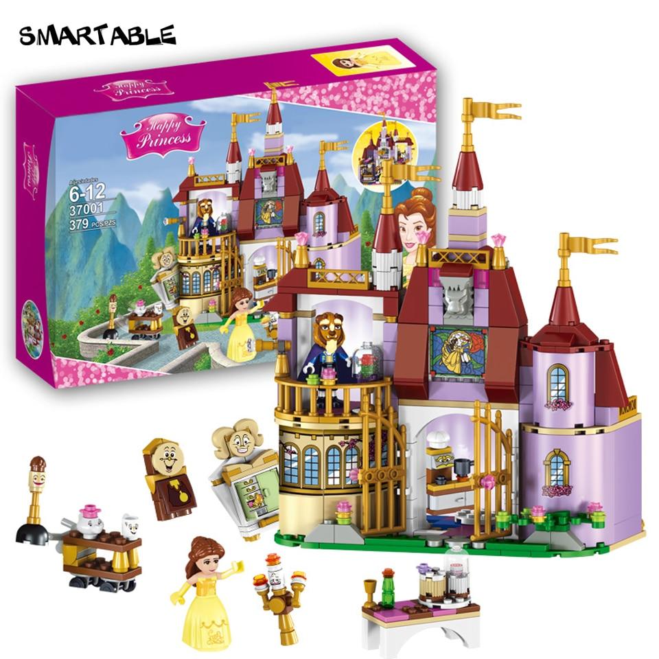 Smartable Girl Beauty and The Beast Princess Belle's Enchanted Castle block Bricks toys set Compatible legoeds friends gift цена