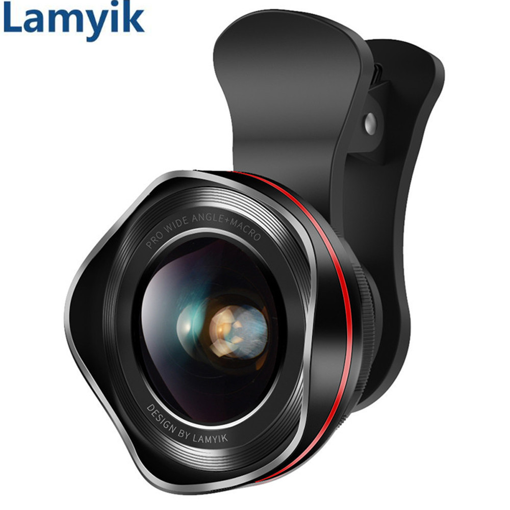 Lens For Phone Camera Lens 180 Degree Fish Eye / 130 Degree Wide Angle / HD 15X Macro Lens Clip-on Optic 3 in 1 Kit for Mobile
