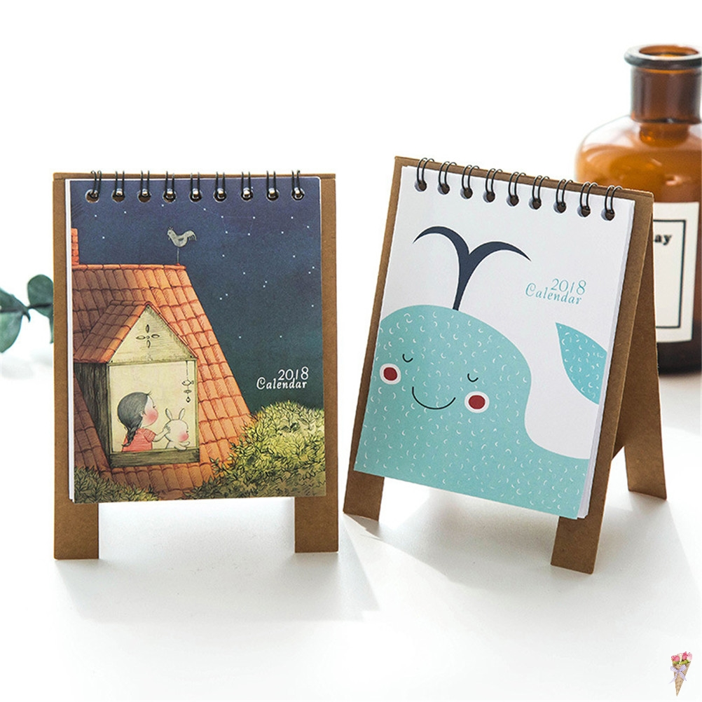 Calendar Dedicated 1 Set 2018 Lovely Cute Little Fresh Cartoon Animals Series Flamingo Mini Table Calendars Desk Calendar Office 2017.9~2018.12 Hot Sale 50-70% OFF