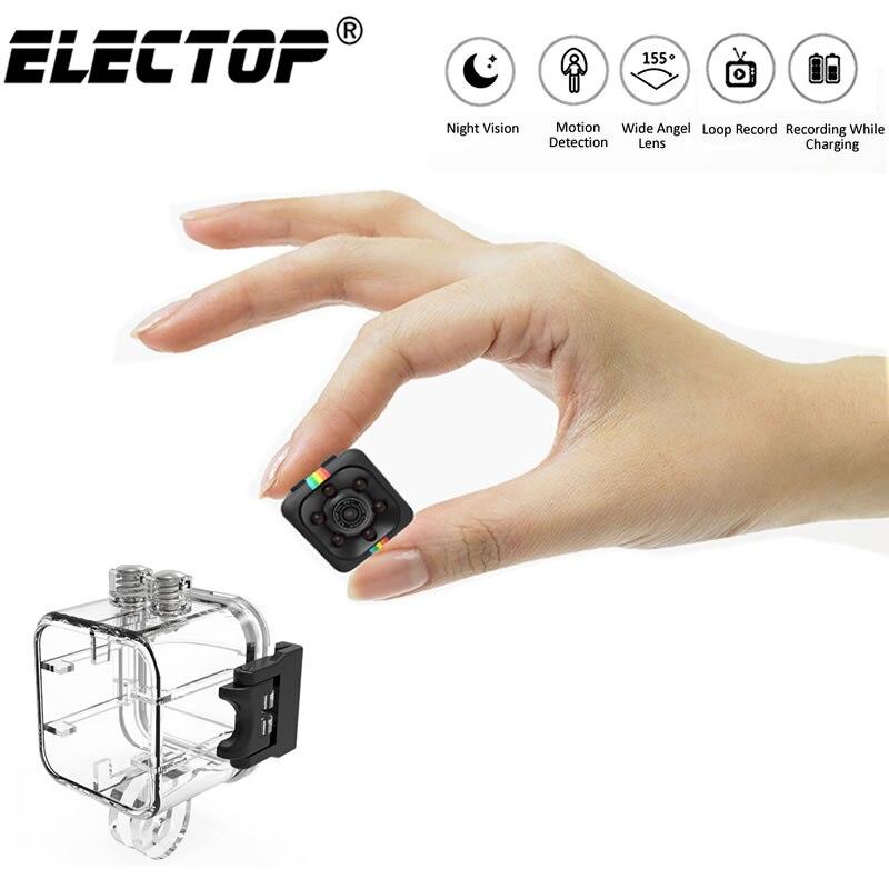 Electop SQ11 HD Mini Camera IP Small Cam 1080P Sensor Night Vision Camcorder Micro Video Camera DVR DV Motion Recorder Camcorder