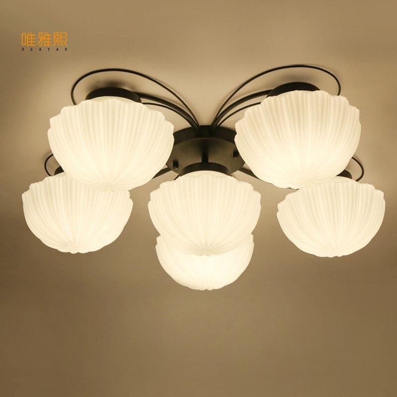 Mordern Retro Bulb Light Chandelier Vintage Loft Antique glass Art Ceiling Lamp Fixture Light dale chihuly style art murano glass lamp multicolor handmade blown glass chandelier light fixture