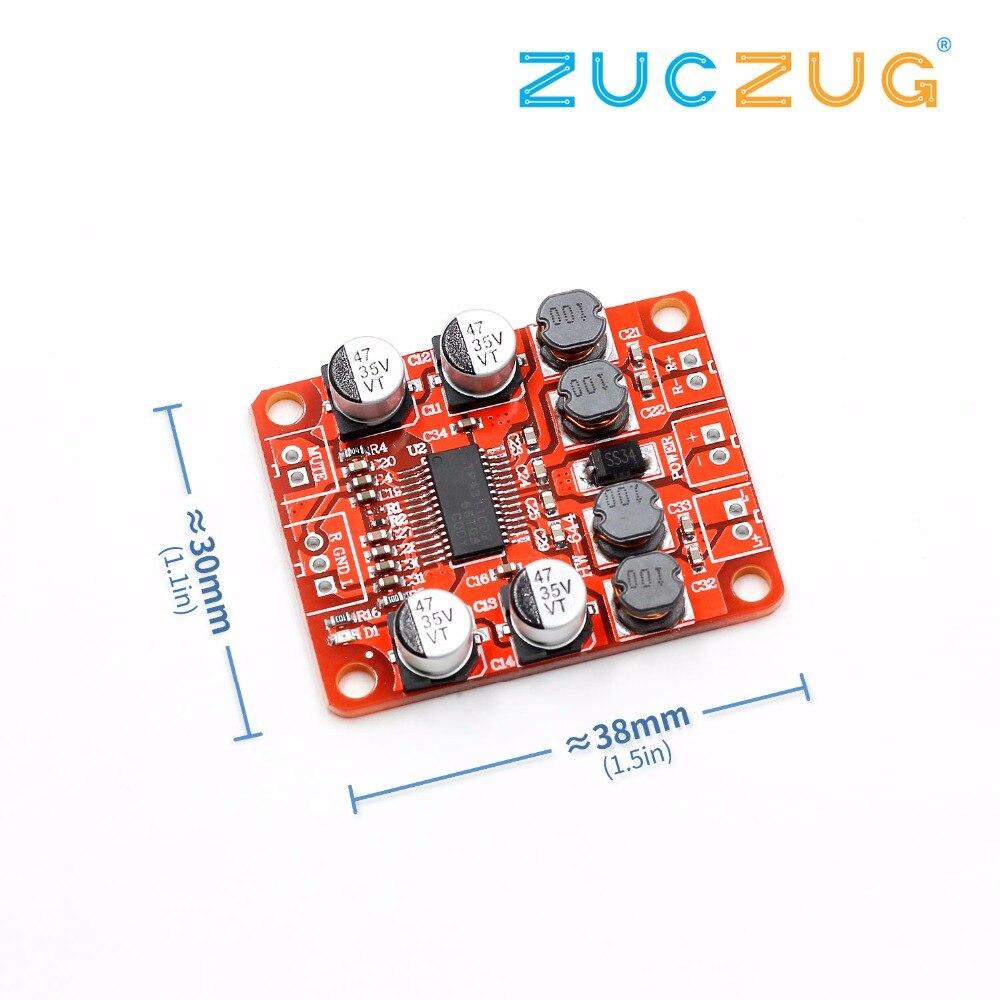 TPA3110 Digital Power Amplifier Module 2x15W Dual Channel Stereo DIY Speaker Amplifier Electronics Design PCB DC 12V