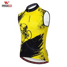 WOSAWE Cycling Vest Summer Sleeveless Reflective Running MTB Bike Bicycle Mesh Sportwear Breathable Ropa Ciclismo