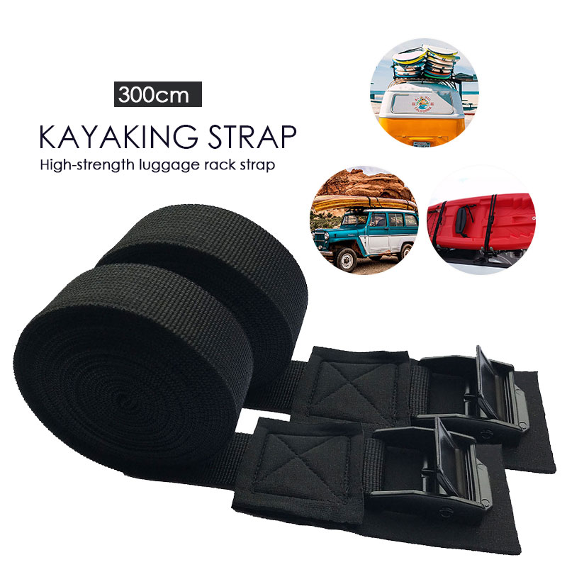 2pcs Black Nylon Belt Rowing Boat Strap Accessories Cool Surfboard For SUP Paddleboard Water Supplies For Sports Paddle Board