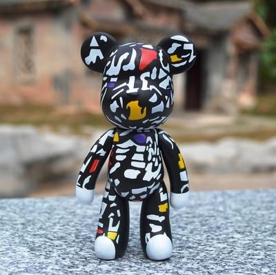 Bomgom Cartoon Popobe Gloomy Bear Teddy Bear Cute Keychain Car Key Holder Bag Charm Resin Key Chain Key Ring Pendant Kids Toy F6