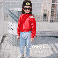 Children sweater shirt spring 2017 spring new children's clothing for girls casual hole hedging sweater T-shirt