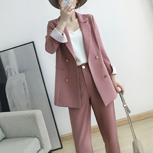Work Pant Suits OL 2 Piece Sets Double Breasted Plus Size 5X