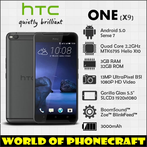 "Цена за HTC One X9 Большой Экран 5.5 ""Octa Ядро 3 Г RAM 32 Г ROM Dual SIM 1920*1080 Android 5 Смысле 7 4 Г FDD LTE смартфон"