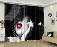 Sexy lady Window Blackout 3D Curtains set For Bed room Living room Office Hotel Home Wall Decorative Drape tapestry