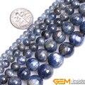Натуральный Камень Круглый Синий Кианит бусины для изготовления ювелирных изделий нить 15 \