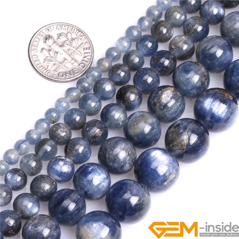 Round Blue Kyanite Beads,Selectable Size 4mm To 12mm,Fshion Jewelry Beads For Women Bracelet Making,Strand 15 Free Shipping цена