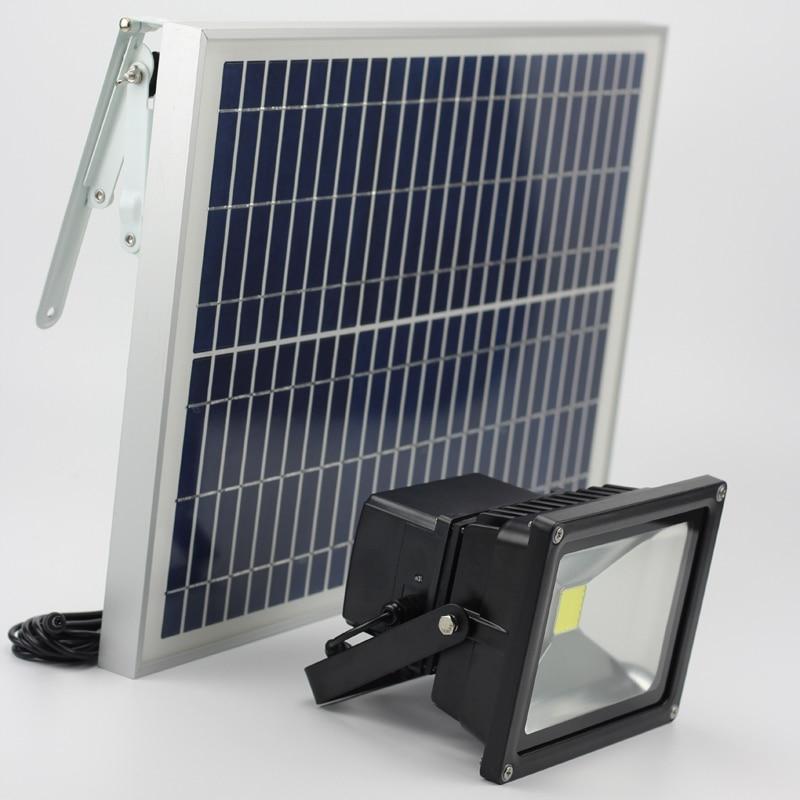 20W napelemes napelemes tápfeszültségű gyepvilági árvízVilágítás Runtime 12 órás kültéri vízálló RedGreenBlueWhite LED