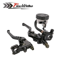 Universal 7 8 Motorcycle Radial Brake Master Cylinder Clutch Reservoir Levers