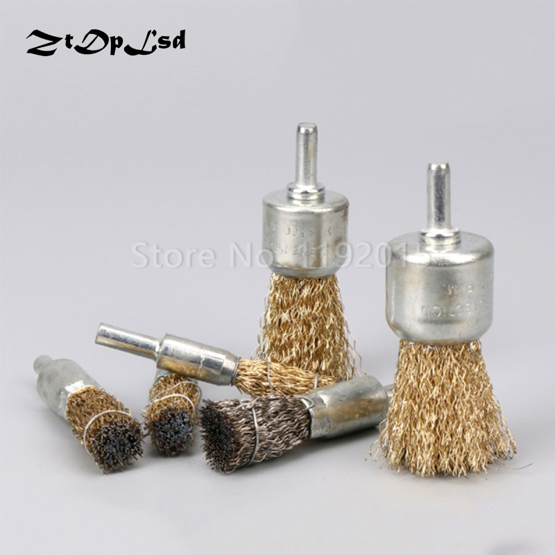 "20mm wire knot end brush stainless steel with 1//4/"" shank for grinder SG"