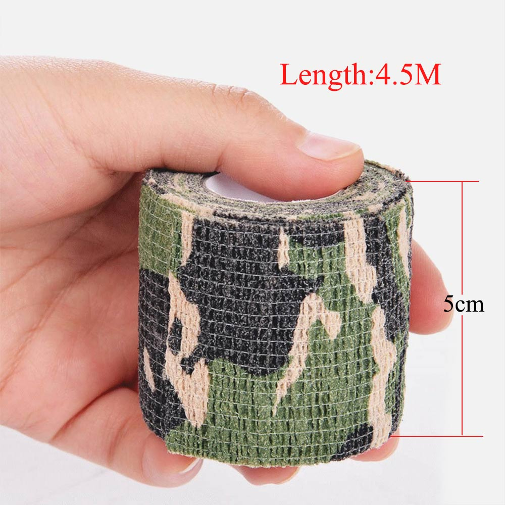5cm x 450cm Kamuflyaj Tape Taktik Ordu Hərbi Parça Ovçusu Silah - Düşərgə və gəzinti - Fotoqrafiya 5