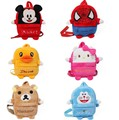 Lanches bolso das crianças criança bonito mochila bebê pequeno saco de pelúcia dos desenhos animados gato máquina pequena mochila de presente de Natal