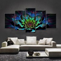 5PCS Full Diamond Embroidery Flower Diy Diamond Paintings Full Mosaic Wall Art Modular Pictures Canvas Pictures