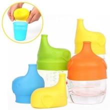 ETya 1 шт Силиконовая крышка для чашки многоразовая чашка со слонами крышка Анти-перелив Пыленепроницаемая непроливающаяся Крышка для детского питья