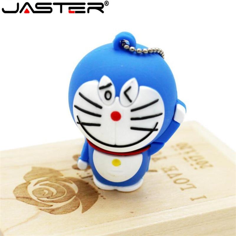 JASTER Free Shipping Doraemon 4G 8G 16G 32G Thumb Drive Cartoon Cat Usb Flash Drive Usb 2.0 Lovely Pendrives Usb Creativo