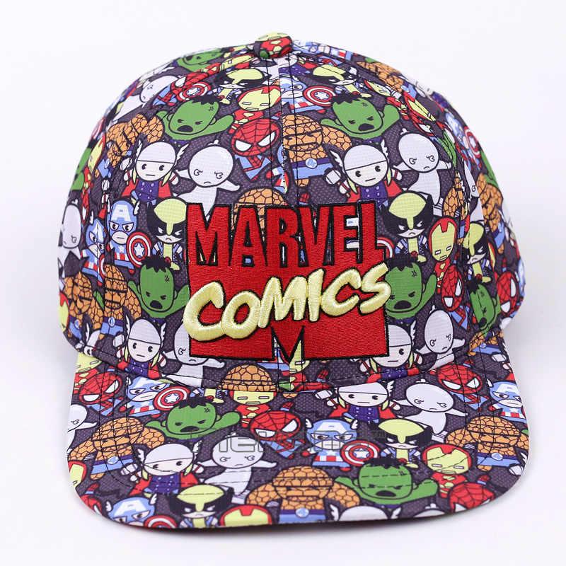 eb242ecbbae Marvel Comics Baseball Cap Women Mens Gorras Planas Snapbacks Trucker Hat  Outdoor Hip-hop Snapback