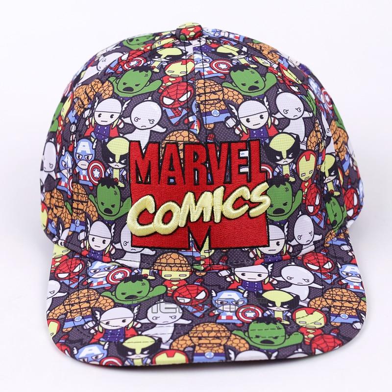 Marvel Comics Baseball Cap Women Mens Gorras Planas Snapbacks Trucker Hat Outdoor Hip-hop Snapback Caps