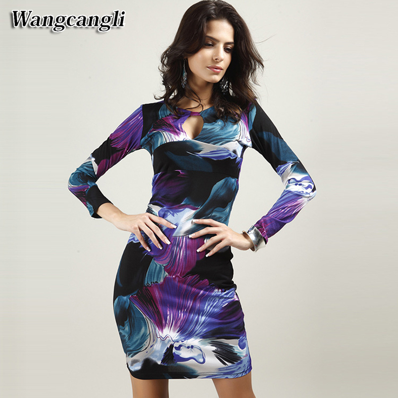 Wangcangli Spring And Summer In 2017 Sexy V Neckline Hip And Hip Club Europe And America