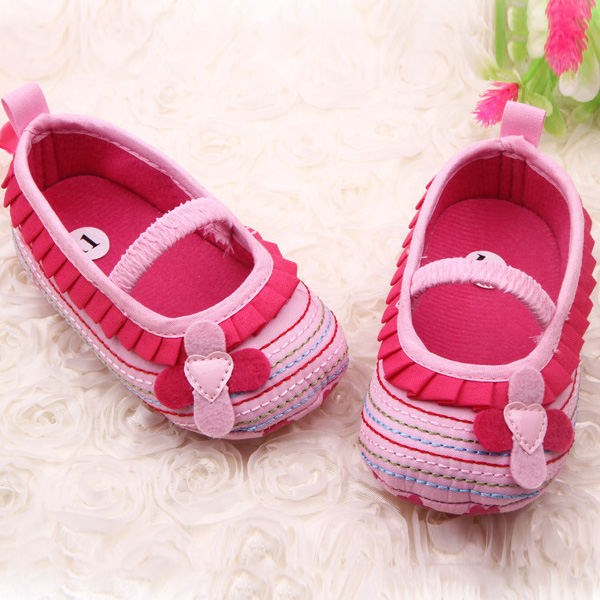 Newborn To 12m Baby Princess Shoes Soft Bottom Flower Decor Working Prewalkers Cotton Baby Shoes Mother & Kids