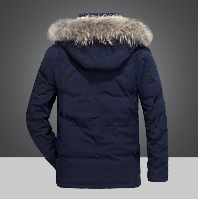 Épais Chaud Beige Vêtements Marque Duvet Homme D'hiver De Armée Doudoune Militaire noir Hommes bleu Canard Long Manteaux Casual Style Vestes gxSwfq