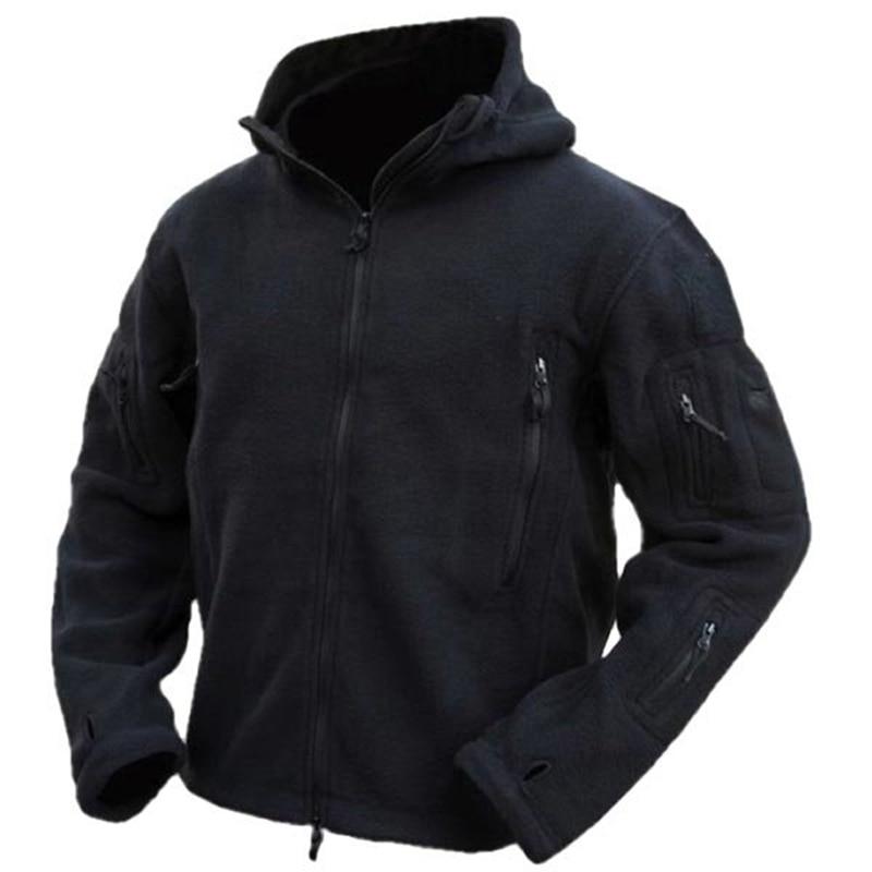 Pria Taktis Militer Musim Dingin Bulu Berkerudung Jaket Softshell - Pakaian Pria - Foto 5