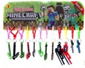 Minecraft Keychain Minecraft PVC Action Figures Pendant Minecraft toys Gifts Christmas gift free shipping