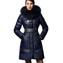 2016  Winter Duck Down Jacket Luxury Down Parkas with Raccoon Fur Hooded Duck Down Jackets Women Winter Coat Brand Parkas 029