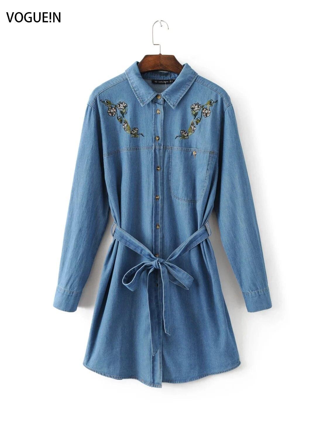 Popular Blue Jean Shirt Dress-Buy Cheap Blue Jean Shirt Dress lots ...