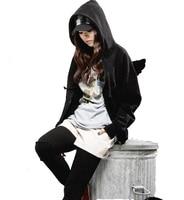 New Women Sweatshirt Autumn Winter Lovely Angel Wings Women Hoodies Zipper Hoodie With Hood Casual Fleece