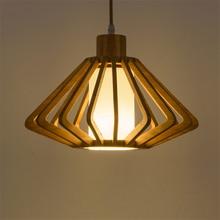 цены JAXLONG Nordic LED Lights Wood Pendant Lamps Kitchen Dining Bar Corridor Hallway Bedroom Living Room Lighting Fixture Industrial
