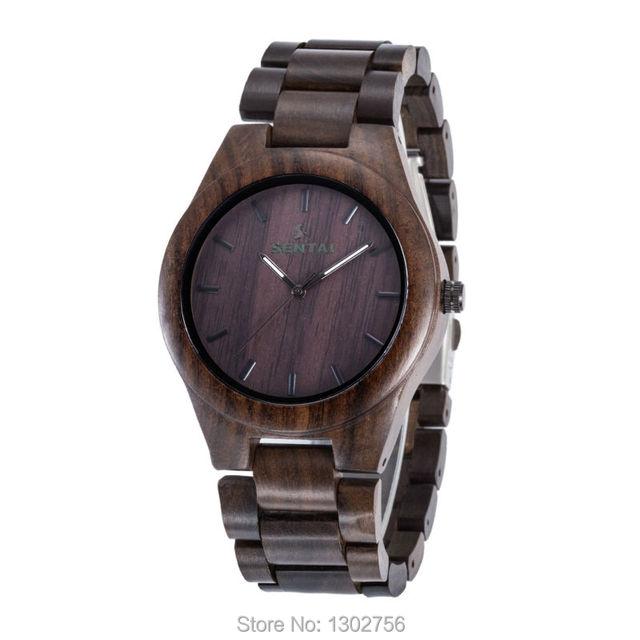Black Sandal Wood Watch For Men & Women Top Luxury Uwood Brand Wooden Watches MIYOTA Quartz Movement Analog Wristwatch Best Gift