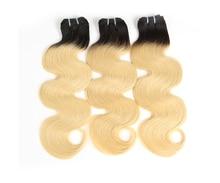 Body Wave Brazilian Virgin Hair 1/3/4 Pcs Blonde 613/Natural Black/1b-613 100% Human Hair Weave Bundles