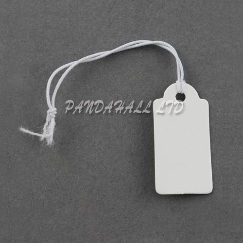 White Jewelry Price Label Tags Clothing Display Tag Paper Card Gift DIY Jewelry Rectangle Display Tag