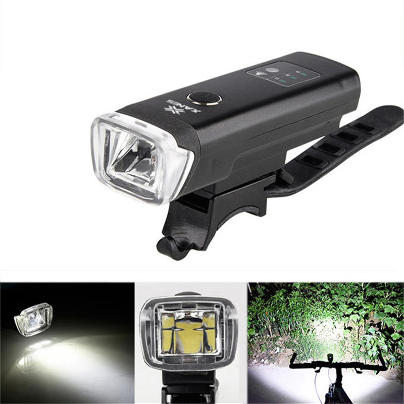 New 600LM OUTERDO XANES SFL03 LED German Standard Smart Induction IPX4 USB Rechargeable Large Flood Light Bicycle Light