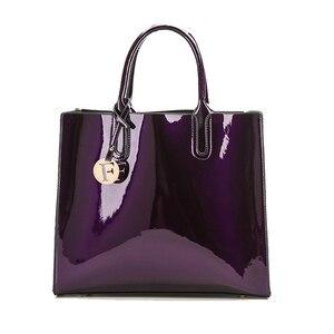 Image 5 - Marca 3 set borse da donna borsa a tracolla femminile in pelle verniciata di alta qualità Tote di lusso + borsa a tracolla a spalla da donna + pochette