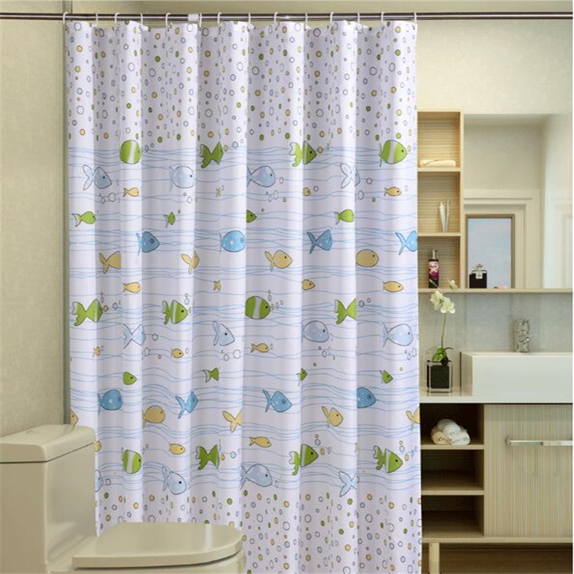 Vixm Bubble Fish Polyester Sea Shower Curtain Waterproof Fabric ...
