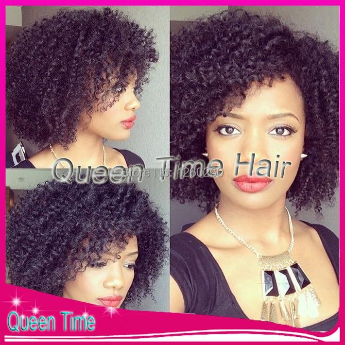 Brazilian afro curly wigs 100% virgin brazilian human hair
