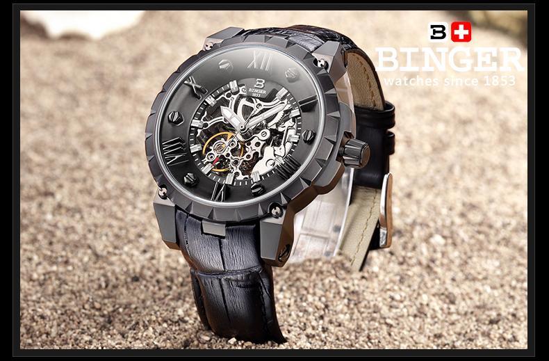 Švicarska BINGE satovi muškarci luksuzni brand mehanički ručni - Muški satovi - Foto 6