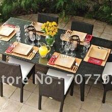 Горячая Распродажа SG-12002B городской стильный обеденный стул, уличная плетеная мебель