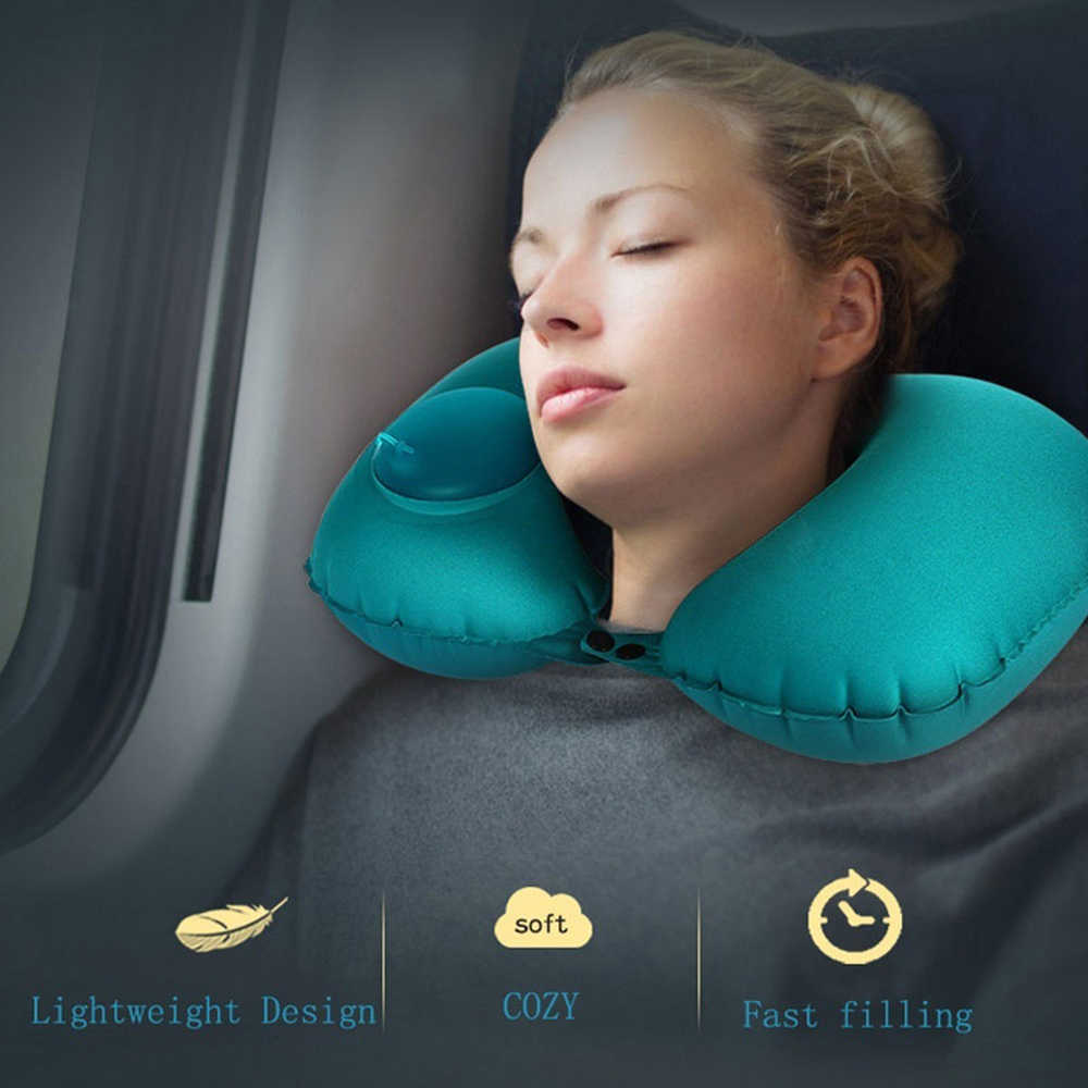 Auto Car Air Inflatable Pillows Cushion Relieve Fatigue Inflatable Travel U-Shape Neck Pillow Car Head Rest Accesorios