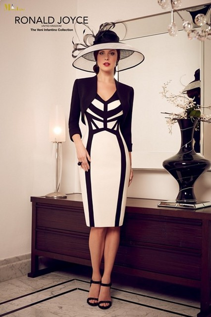 2016 New R 045 Mother Of The Bride Dresses Gorgeous Knee Length With Jacket Wedding
