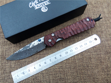 folding knife Damascus blade Cocobolo handle pocket camping hunting tactical knife outdoor survival tools small Sebenza 21 EDC