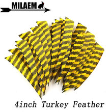 50/100pcs 4inch Archery Turkey Feathers Arrow Natural Fletching DIY Shaft Hunting Shooting Bow Accessories